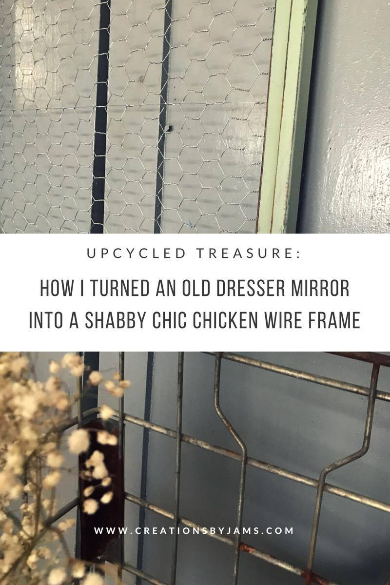 DIY Chicken Wire Frame -- Shabby Chic -- Step by Step -- Rustic ...